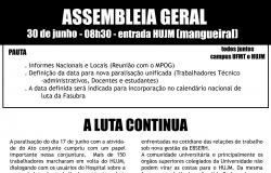 Assembleia Geral no HUJM - 30.06.15