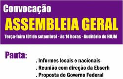 Cartaz - Assembleia HUJM - 01.09.15