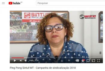 Pin Pong Sintuf-MT: Campanha de Sindicalização 2018