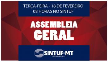 Sintuf convoca assembleia geral para o dia 18 de fevereiro