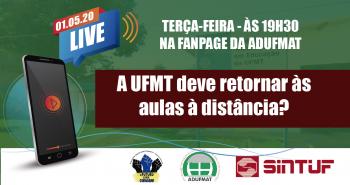 Live debaterá volta às aulas na UFMT