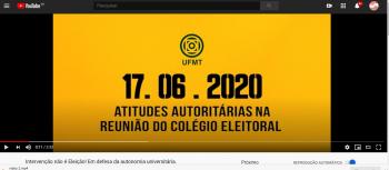 Essa é a democracia da UFMT?