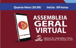 Sintuf-MT convoca Assembleia Geral Virtual na quarta-feira (30)
