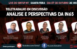 Sintuf confirma live para debater teletrabalho e IN 65