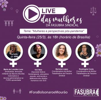 "25/3 – Live ""Mulheres e perspectivas pós-pandemia"""