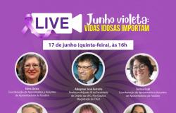 """Live """"Junho Violeta: Vidas Idosas Importam"""" será nesta quinta-feira (17)"""