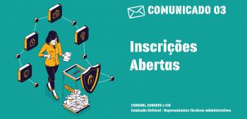 Estão abertas as inscrições para representantes dos Técnico-administrativos no Consepe, Consuni e CIS