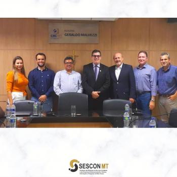 Sescon/MT reúne-se com CRC/MT para tratar sobre ações em prol da classe contábil