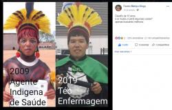 Indígena de MT participa do #10yearchallenge 'Desafio dos 10 Anos' e viraliza na internet