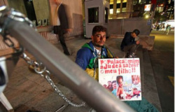 Pai faz greve de fome por transplante multivisceral para o filho