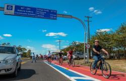 Nova ciclofaixa fortalece o turismo em Chapada dos Guimarães
