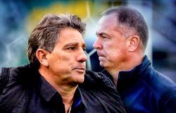 """O encontro: técnicos mais longevos, Renato e Mano se enfrentam após """"fogo amigo"""