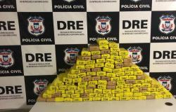 Mais de 100 tabletes de maconha são apreendidos e traficante monitorado por tornozeleira é preso em MT