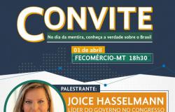 Movimento Brasil 200 traz Joice Hasselmann para palestrar em Cuiabá