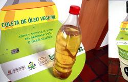 Secretaria de Meio Ambiente tem ponto de coleta voluntário para a reciclagem de óleo de cozinha