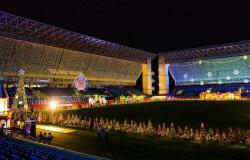 Parque natalino na Arena Pantanal deve ficar aberto para visitação até domingo