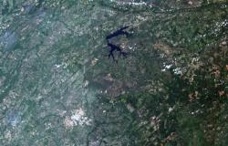 Primeiras imagens de novo satélite lançado por Brasil e China mostram lago do Manso e divisa entre MT e MS