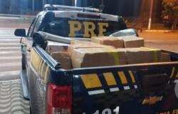 Motorista foge e PRF encontra mais de meia tonelada de maconha em caminhão