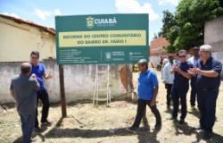 Prefeito lança início das obras de reforma e ampliação de centro comunitário no Dr. Fábio I