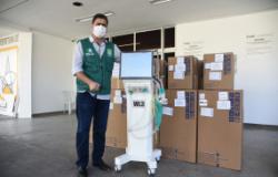Hospital Referência de Cuiabá recebe 20 novos respiradores para UTI/Covid-19