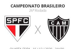 São Paulo x Atlético-MG: veja onde assistir, escalações, desfalques e arbitragem