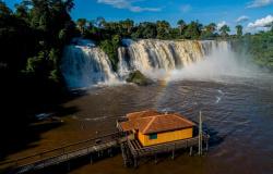 Conheça Mato Grosso: Salto das Nuvens encanta com queda d'água em meio à paisagem de árvores exuberantes