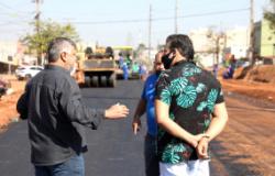 Fase de pavimentação é iniciada na obra de duplicação da Avenida Dante Martins de Oliveira