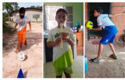 Estudantes da rede municipal de ensino participam dos projetos voltados aos esportes e iniciação musical