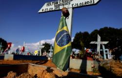 Covid-19: Brasil soma 541,2 mil mortes e vai 19,3 milhões de casos