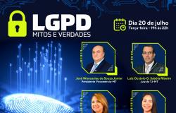 Evento on-line e gratuito 'LGPD - Mitos e Verdades'