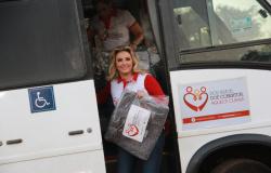 Campanha de Inverno coordenada pela primeira-dama arrecadou 70 mil cobertores em quatro anos