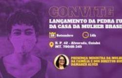 Primeira-dama Marcia Pinheiro recebe ministra Damares para o lançamento da pedra fundamental da Casa da Mulher Brasileira