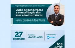 TCE-MT realiza palestra sobre Juízo de Ponderação e Convalidação de Atos Administrativos