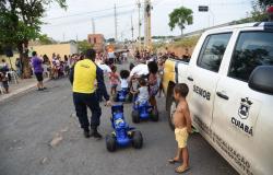 Parceria entre a Semob e Sindicato dos Agentes promove festa para 300 crianças de comunidade carente