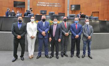 Nova Mesa Diretora da Assembleia Legislativa para o biênio 2021/2023 – (Foto: Divulgação)