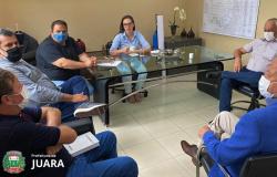 Prefeito Carlos Sirena, Vice-Governador Otaviano Pivetta e Deputada Estadual Janaína Riva se reúnem na Capital Cuiabá