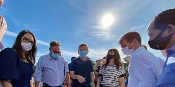 Jana na estrada - Visita às obras do hospital regional de Juína | 13.05.2021