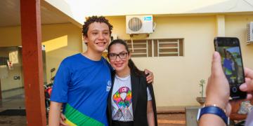 Visita a Escola Estadual José Leite de Moraes em Várzea Grande