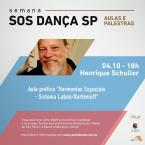 Semana SOS Dança Sp - Aulas e Palestras de 28/09 a 04/10