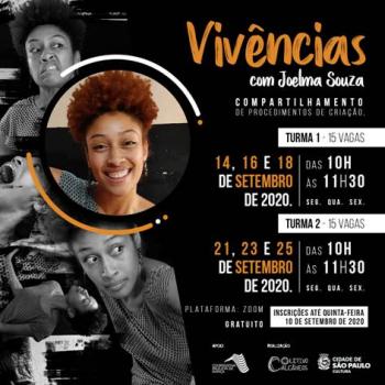 Vivências com Coletivo Calcâneos com Joelma Souza e Lucas Pardin -  inscrições até 10 de setembro