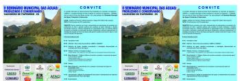 Convite para o II Seminários Municipal das Águas