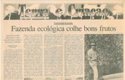 1996 - Primeira reportagem e primeiro artigo de Jurandir Melado sobre a Fazenda Ecológica - Jornal A Gazeta de Cuiabá MT