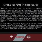Nota! Sindicato dos Delegados de Rondônia, apresenta nota de solidariedade  aos quartos Policiais morto no Rio de Janeiro