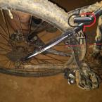 Praticante de ciclismo quase é vítima de cobra Cascavel ao ter o câmbio da bike quebrado, confira.