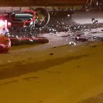 Colisão entre entregadores de aplicativo deixa um morto e outro gravemente ferido na noite desta quarta-feira