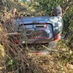 hauahuahauhauhauahhauhauahuahuahauhuHomem é socorrido até ao Hospital após perder controle da direção e capotar veículo