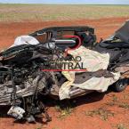 hauahuahauhauhauahhauhauahuahuahauhuMulher tem o corpo dilacerado e carro destruído ao colidir frontalmente com carreta carregada de milho em Campo Novo dos Parecis