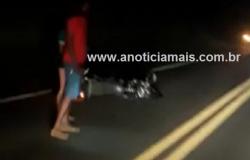 Colisão frontal entre duas motocicletas na BR-364 deixa dois mortos e um ferido