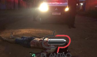 Jovem é  encontrado com vários  golpes de facão  na rua Cascalheira