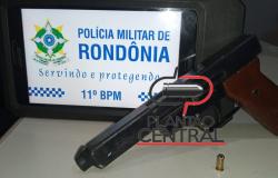 Policia Militar  prende  homem com arma de fogo  ao atender ocorrência  de violência doméstica